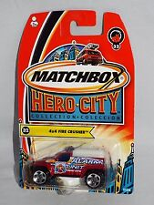 Matchbox 2004 Hero City Fire Series #32 4x4 Fire Crusher Alarm Unit