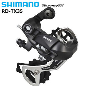 Shimano-Tourney-RD-TX35-6-7-8-Speed-MTB-Bicycle-Rear-Derailleur-Blcak-New-US