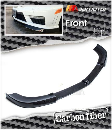 Carbon Fiber V Front Bumper Lip Spoiler for Mercedes W212 E63 Pre-Facelit AMG