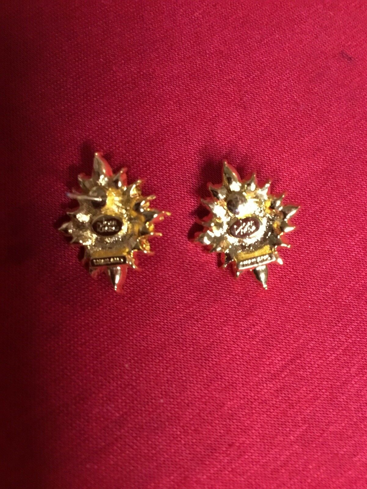 Vintage Joan Rivers Gold Tone Earrings. - image 2