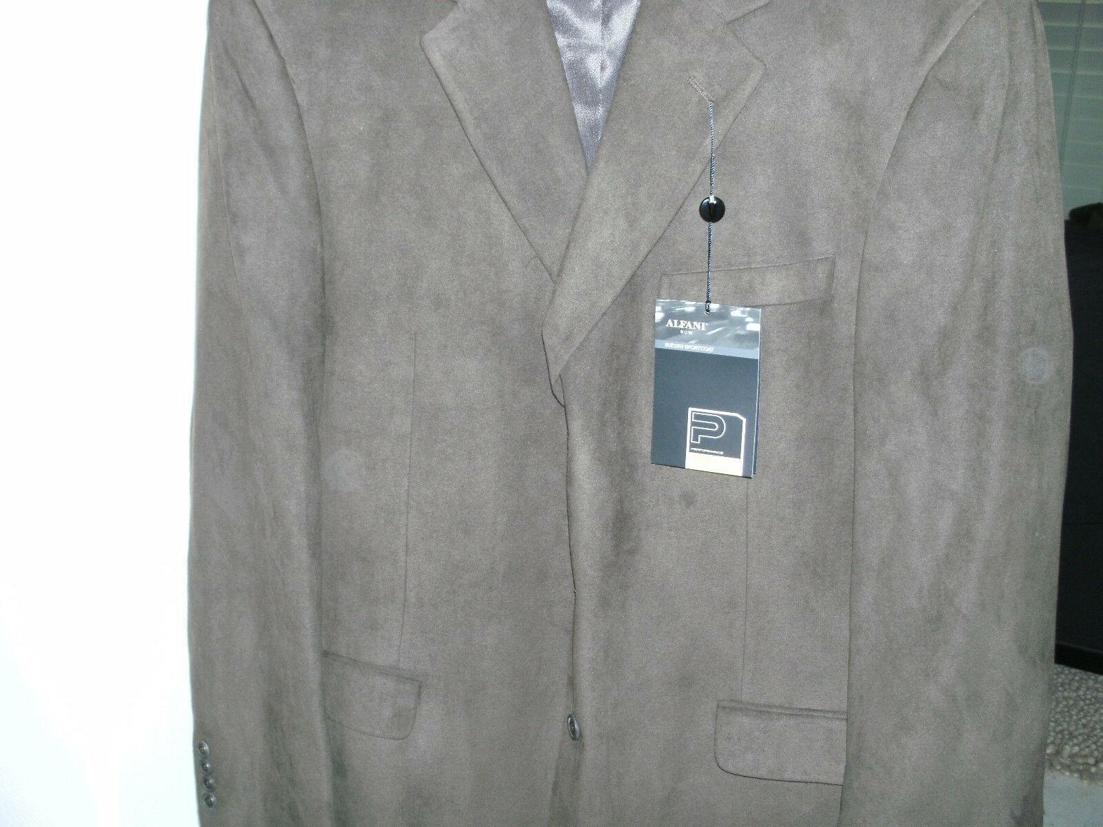 ALFANI braun SPORTCOAT SUEDED 44L 44L 44L LONG NEW WITH TAGS 250 SEE TAG PIC FOR COLOR 740a75