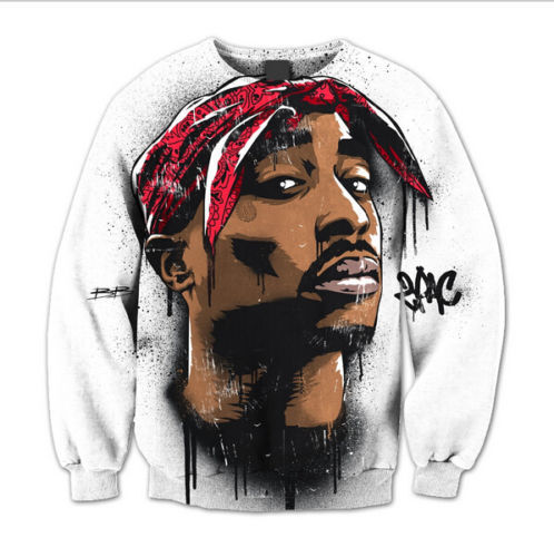 New Mens//Women Legendary 2Pac Hip hop Icon Tupac 3D Print Sweatshirt hoodies DER