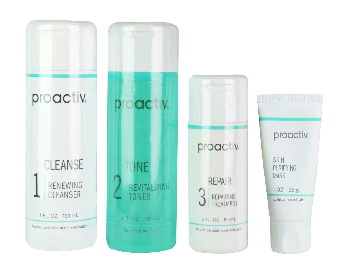 Proactiv Set Acne Treatment Skin Smoothing Exfoliator Oil Control Cleanser 60day For Sale Online Ebay