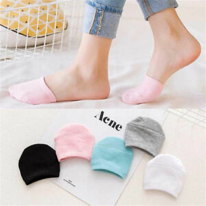 Women-Foot-Cotton-Black-Pairs-Set-Toe-Socks-Breathable-Relief-5-Cover-Half-Soft