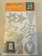 Cricut Cuttlebug Cut & Emboss Die Set - Stars and Hearts NEW