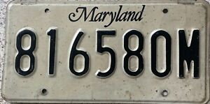 GENUINE-American-USA-1999-Maryland-License-Licence-Number-Plate-Tag-816580M
