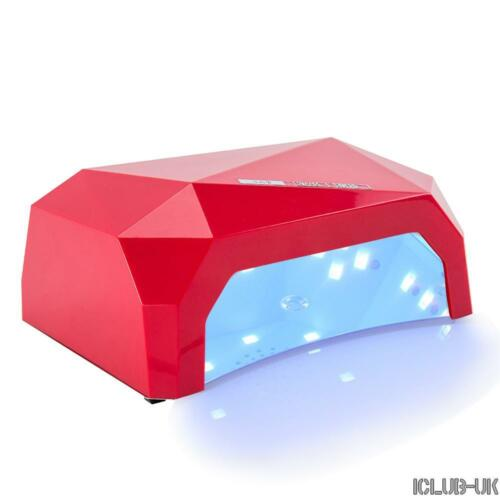 36w LED Light UV Lamp Nail Dryer Art Curing GEL Gelish Timer Acrylic Polish  04 Red | EBay