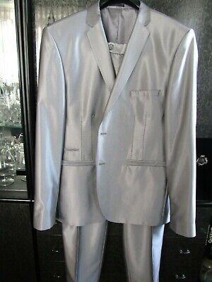 Hochzeitsanzug Designer Glanz silber Sakko Hose Gr. 64 Übergröße Bräutigam | eBay