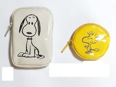 Peanuts Snoopy Pouch with Window 3 pieces set from Japan Magazine
