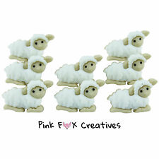 TINY SHEEP DRESS IT UP NOVELTY CRAFT BUTTONS CUTE BABY FARM LAMB AMINAL WOOL FUN