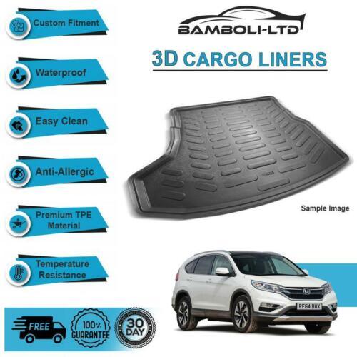 Fit for HONDA CRV 4X4 SUV 2007-2012 Rear Liner Rubber 3D Cargo Trunk Mat