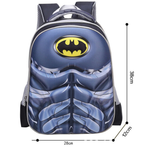 Child Kids Boy Girl Superhero Backpack Cartoon Batman School Travel Bag Rucksack