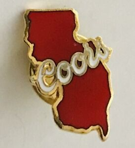 Coors-Beer-Brand-New-Jersey-Man-Cave-Advertising-Pin-Badge-Rare-Vintage-H6