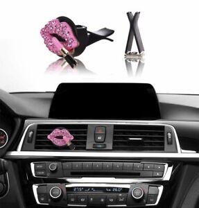 Bling Bling Car Accessories Interior Decoration for Girls women - Pink Lipstick  eBay