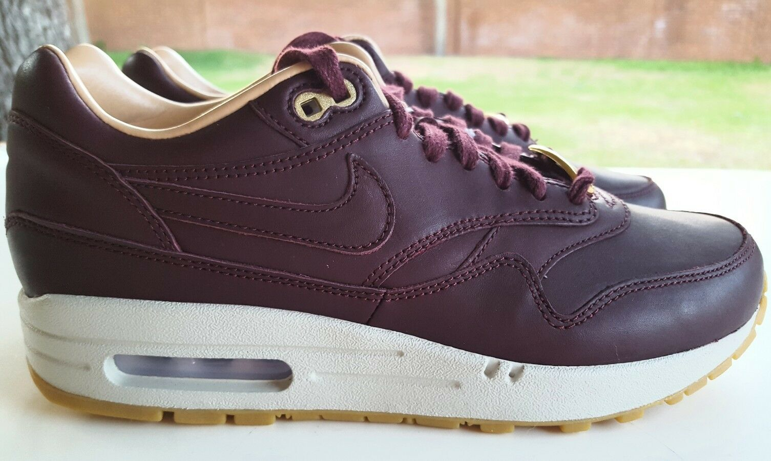 NIKE AIR MAX 1 PREMIUM LEATHER ID WMNS SIZE 8 AA0516-991
