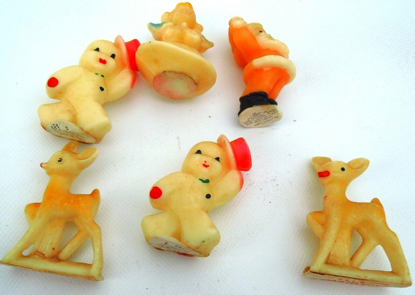 Uralte Weihnachts Kerzen Wachskerzen mit Weihnachtsmotiv Old Christmas Candles