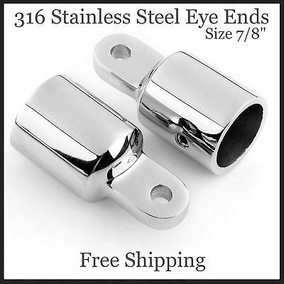 7//8 Inch Round Tubing Bimini Top 316 Stainless Steel External Eye End for Boats