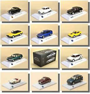 Saab-Model-Cars-1-43-Scale-atlas-Saab-Museum-Collection-Rare-Hard-To-Find