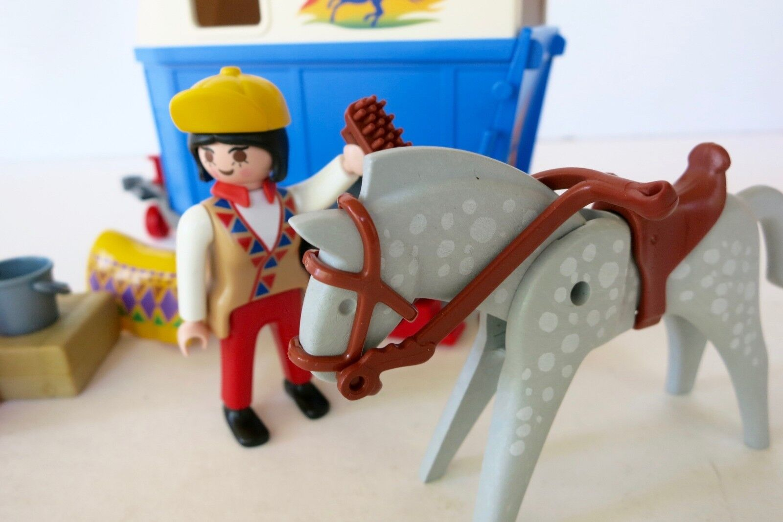 PLAYMOBIL Farm Horse Transport Transport Transport Set 3851 Incomplete 8b2347