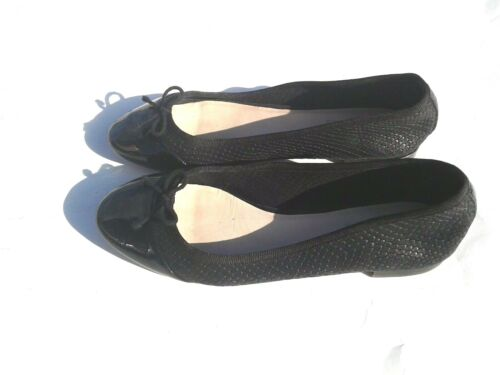 piel en Grandos color estampado genuina Cole Haan de y de negro Tamaño patente 7b con serpiente Pisos 805wq