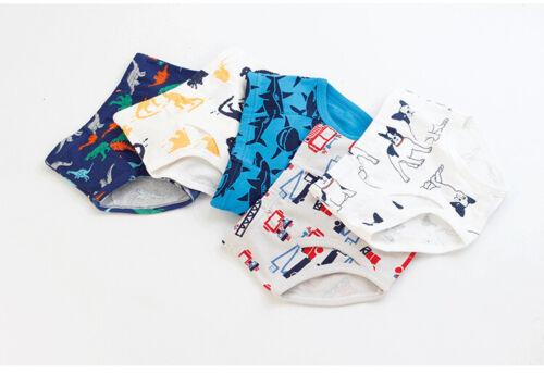 3 Pack Kids Boys Underwear Toddler Child Cartoon Dinosaur Cars Briefs Knickers