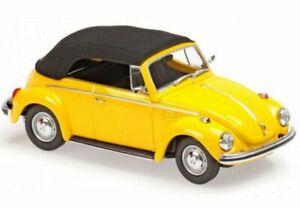 VW Volkswagen Käfer / Beetle 1302 Cabrio - 1970 - yellow - Maxichamps 1:43