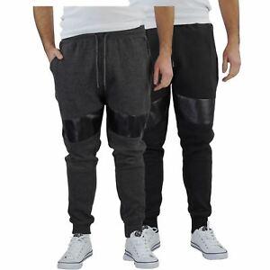 Homme-Pantalon-De-Survetement-Brave-Soul-Sean-Slim-Motard-Panneau-Detail-Decontracte-Pantalon