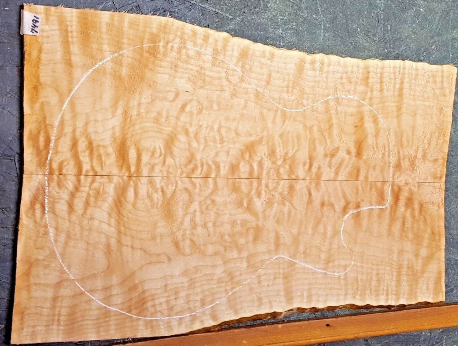 QUILTED 5A CURLY Maple Wood  7491 Luthier Electric Guitar Top Set 22 x 15 x 3/8