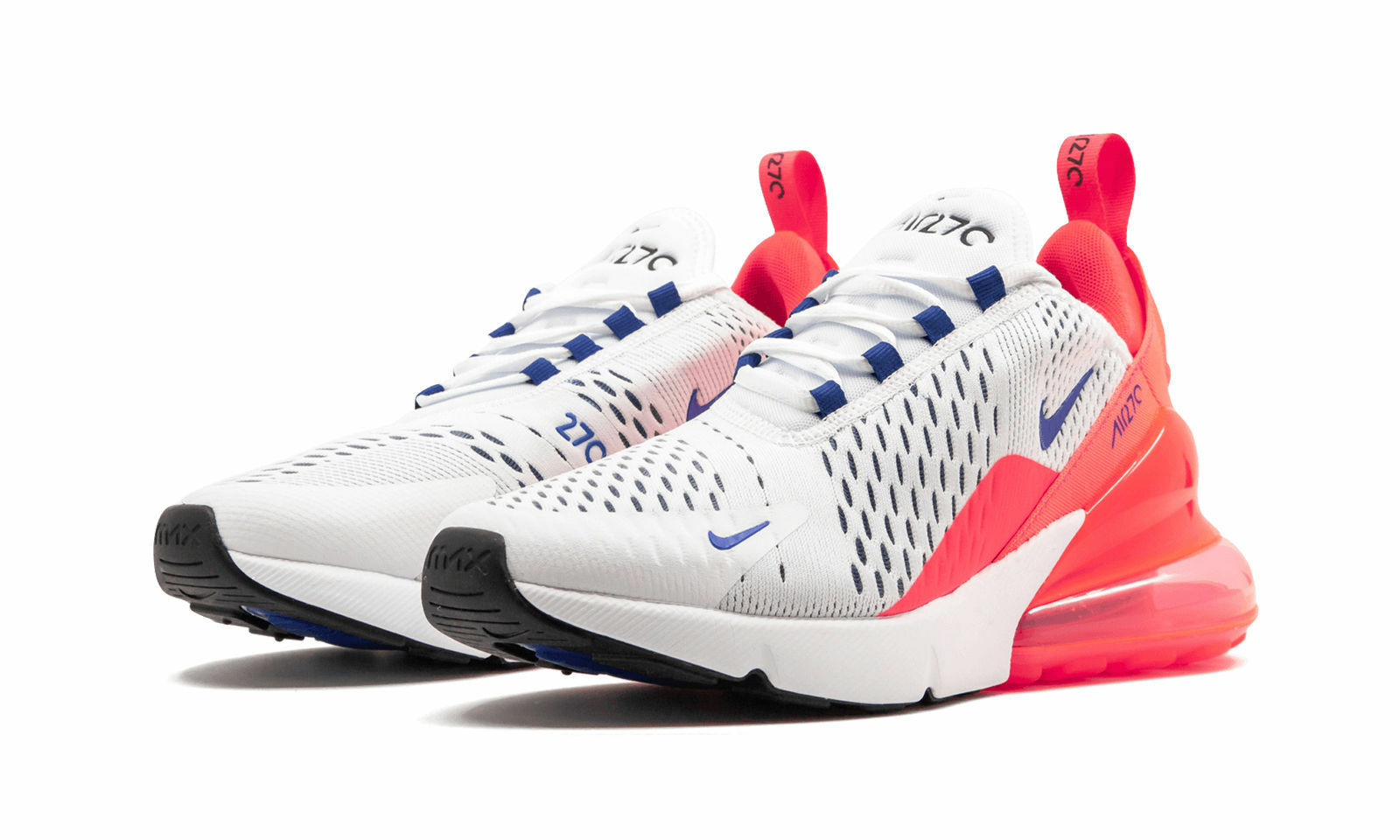Women's Nike Air Max 270 White Ultramarine Solar Red Pink size 5.5 AH6789 101