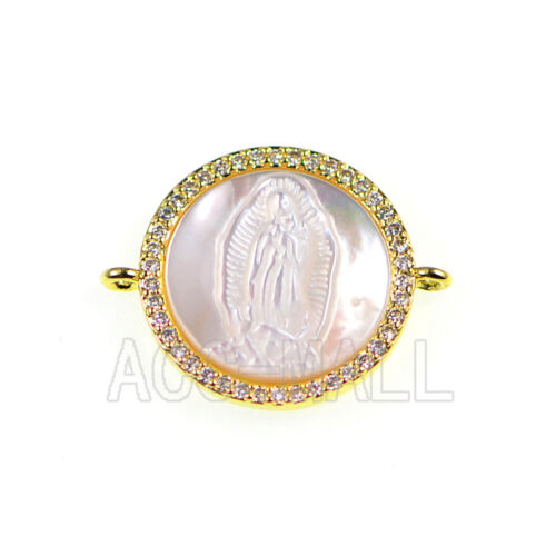 Top Zircon Micro Pave mauvais oeil Pierres Précieuses Lucky Bracelet Connector Charm Beads