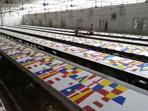 "20/"" X 8.5/"" Marine CODE Total 14 Flags Naval Signal Pennants"
