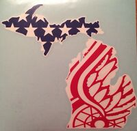 Detroit Red Wings Vinyl Decal 6x7.75 Free Shipping
