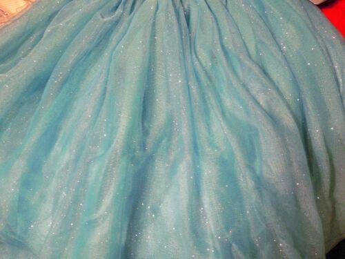 DeLuXe~ELSA~Sparkle~Sequin~NET~DRESS~Frozen~Girls~NWT~Disney Store~2015