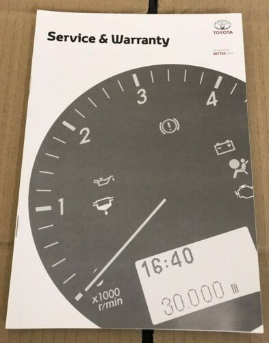 NUOVO servizio TOYOTA LIBRO NON DUPLICA copre tutti i modelli Benzina e Diesel