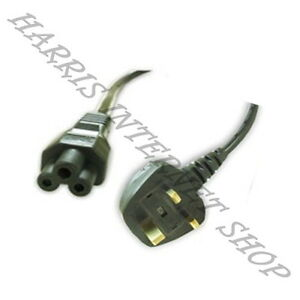 3-broches-uk-3-broches-clover-leaf-Ordinateur-Portable-Cable-D-039-alimentation-plomb-4-Chargeur