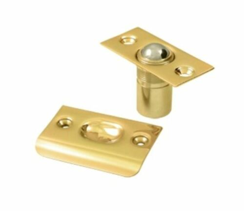 Ball Catch Tension Latch for Doors Solid Brass Square Corner 10 Finishes by FPL