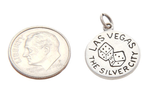 Sterling Silver Las Vegas le Silver City Charm//Pendentif