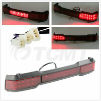 Red Led Tail Turn Light Trunk For Harley Touring Classic King Tour Pack 97-08