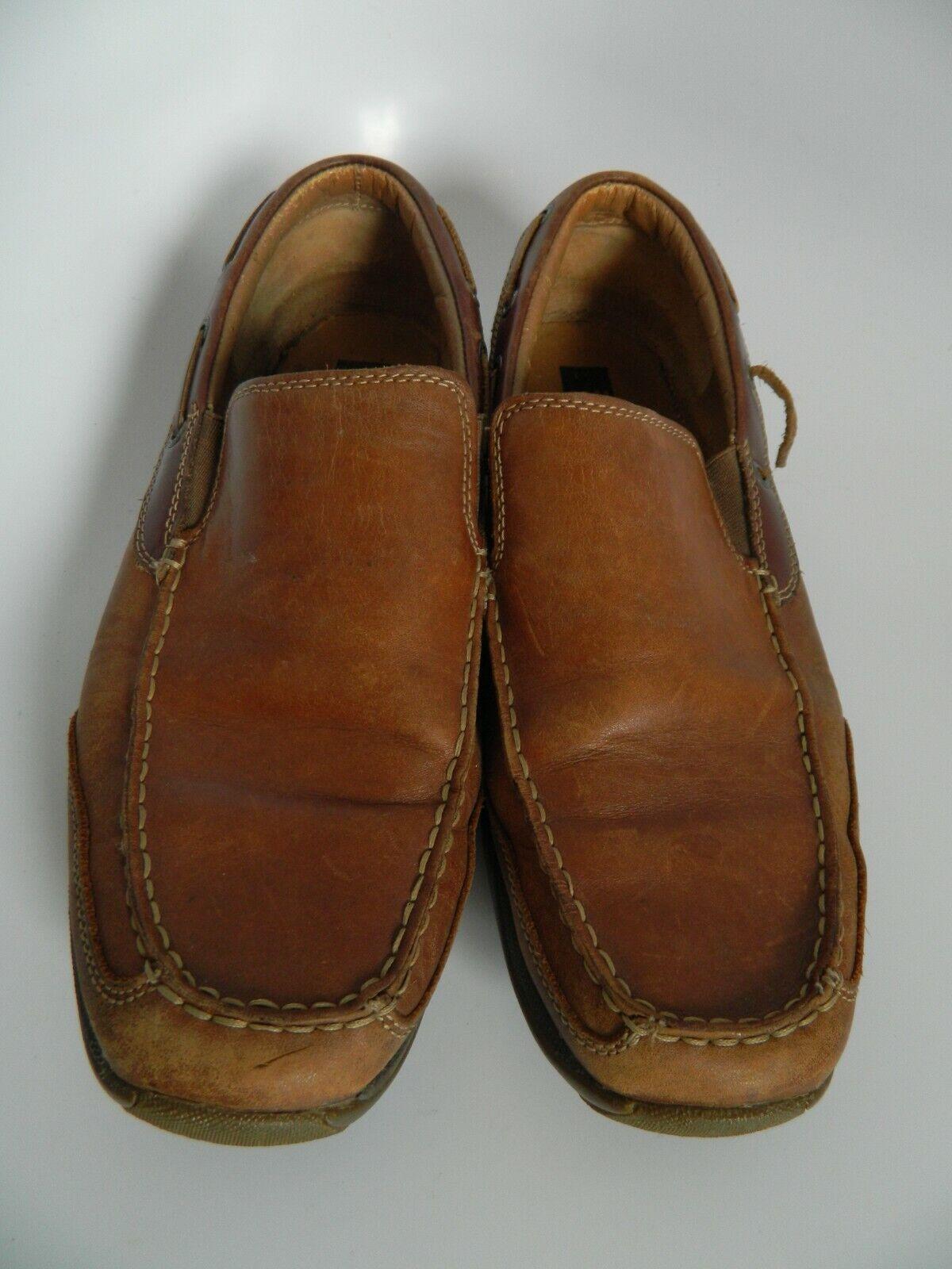Johnston & Murphy Sheepskin XC4 System Dual Width Brown Loafers Size 12M
