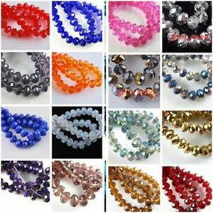 Wholesale-100pcs-Lampwork-Faceted-Glass-Loose-Beads-Spacer-Rondelle-Finding-4mm