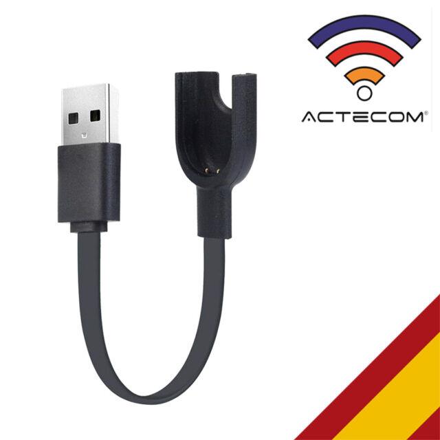 ACTECOM Cable USB de carga y sincronización de carga base para Xiaomi mi Band 3