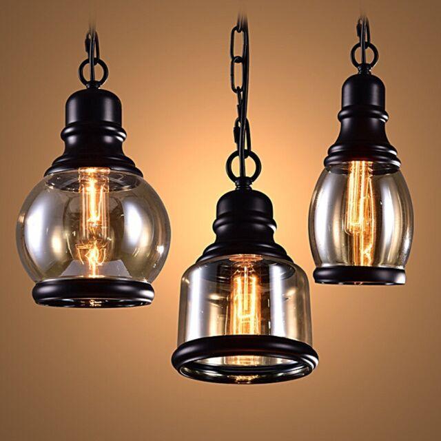 Retro Vintage E27 Fixture Industrial Loft Bar Pendant Light Ceiling Lamp Chandelier