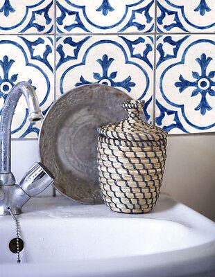 Wall Tile Sticker Kitchen Bathroom Decorative Decal: DutchBlue tile BW002