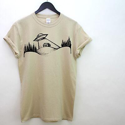 Fiducioso Ufo Invader T Shirt Space Farm Beam Me Up Hipster Streetwear Rapimento Alieno L60-mostra Il Titolo Originale Merci Di Alta Qualità