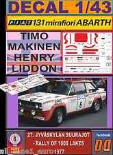 DECAL 1/43 FIAT 131 ABARTH T.MAKINEN 1000 LAKES 1977 (FULL) (01)