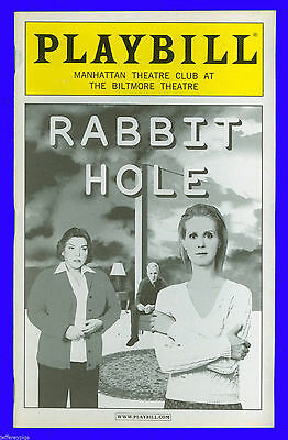 Playbill + Rabbit Hole + Cynthia Nixon , Tyne Daly , John Gallagher Jr