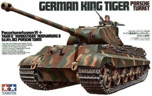 King Tiger Porsche Turret - 1  35 militär- modellllerler Kit - Tamiya 35169