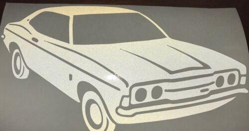 Ford Cortina MK 3 Autocollant Blanc Réfléchissant Vinyle