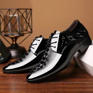 New-Men-Lace-Up-Oxfords-Dress-Tuxedo-Formal-Shoes-Cap-Toe-Business-Leather-Shoes