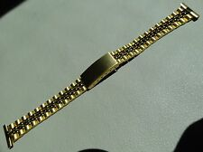 Womens ROWI Made in Germany 16mm Gold Tone President Bracelet Watch Band $29.95